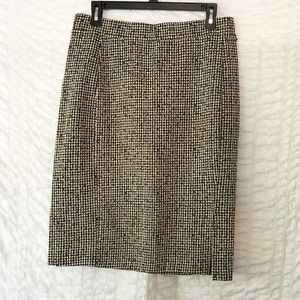 MK Houndstooth Skirt with Slit